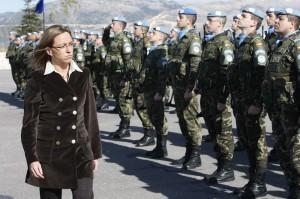 Chacón, Ministra de defensa