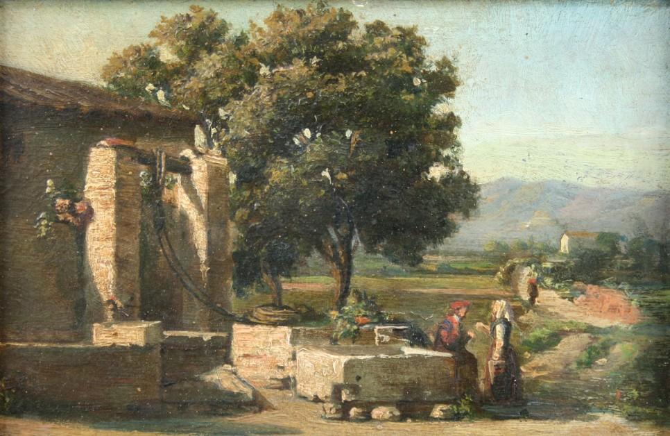 Pintura de Lluis Rigalt i Farriols (Barcelona, 1814 – 1894)