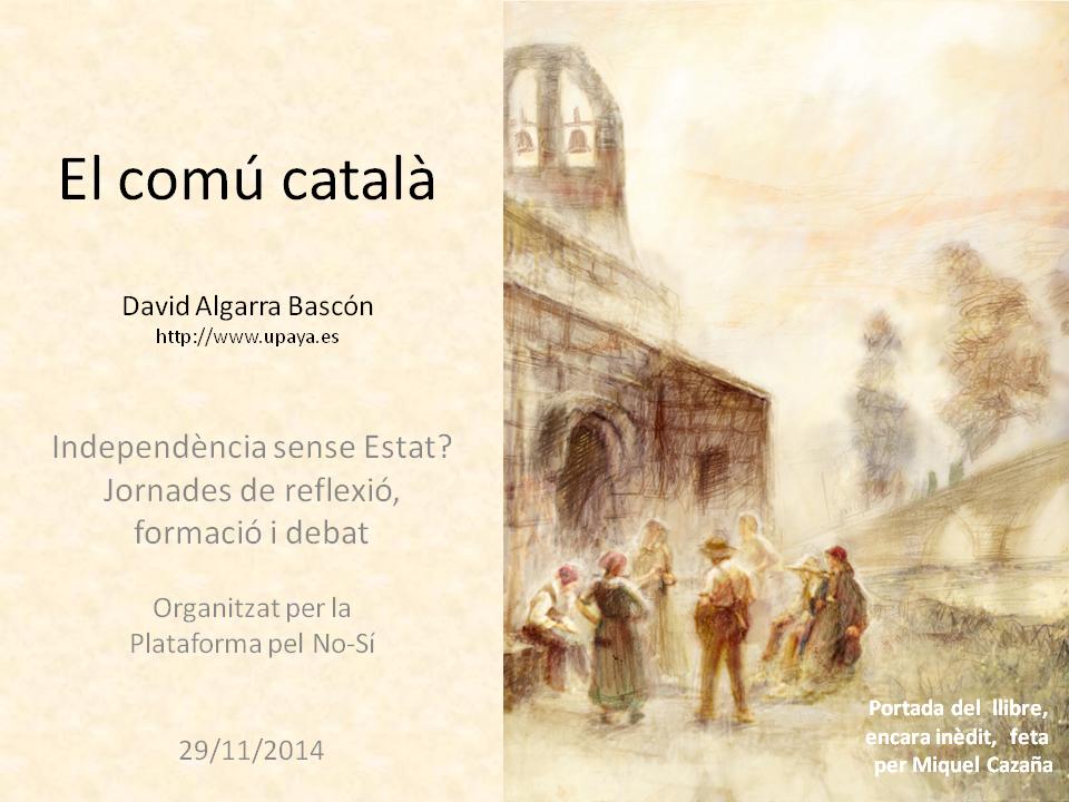 Xerrada El Comú Català