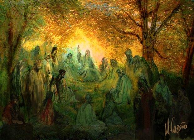 Oración - Lámina de mi amigo, el pintor Miquel Cazaña